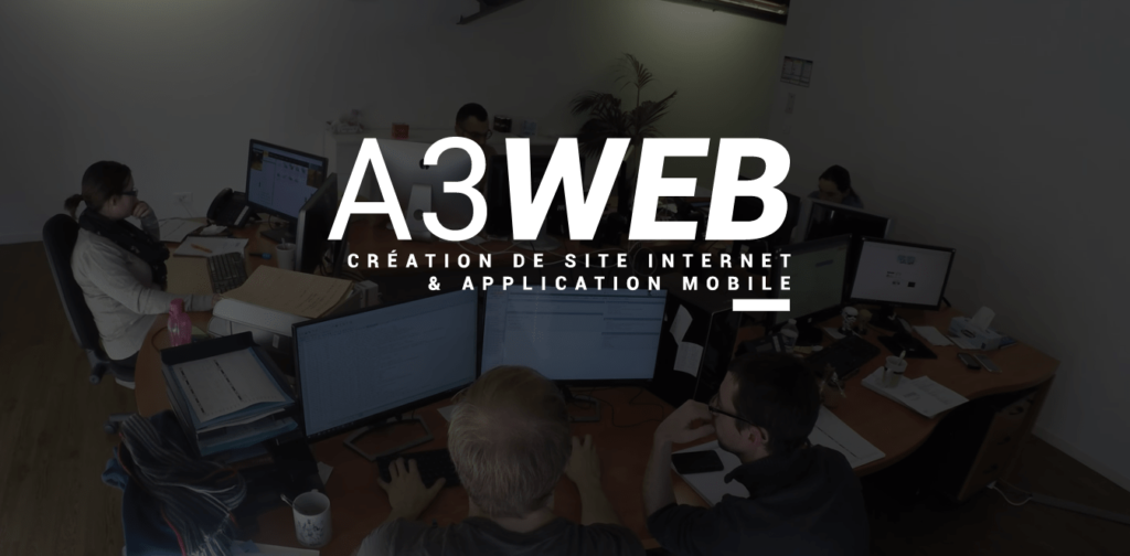 Le site internet A3 Web utilise la vidéo en arrière plan pour vous montrer les coulisses de l'agence !