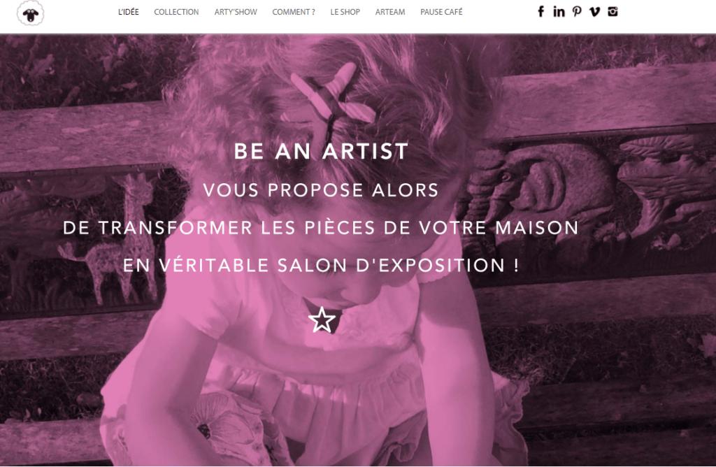 Be An Artist, un site web coloré et vitaminé !