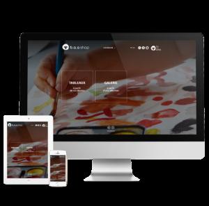 Création du site internet Be An Artist propulsé par Prestashop.