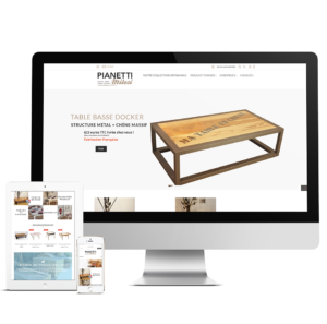 Pianetti Milesi, site internet Prestashop.